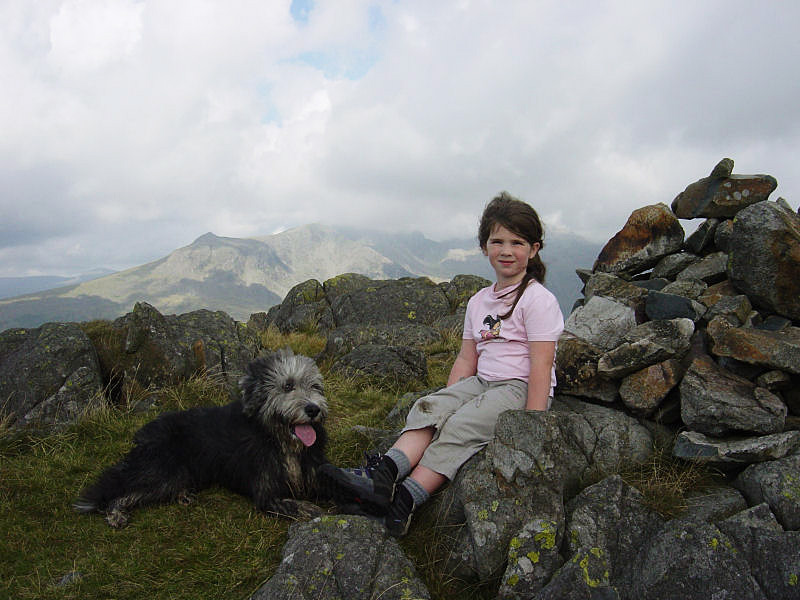 Angus and Connie on Hard Knott