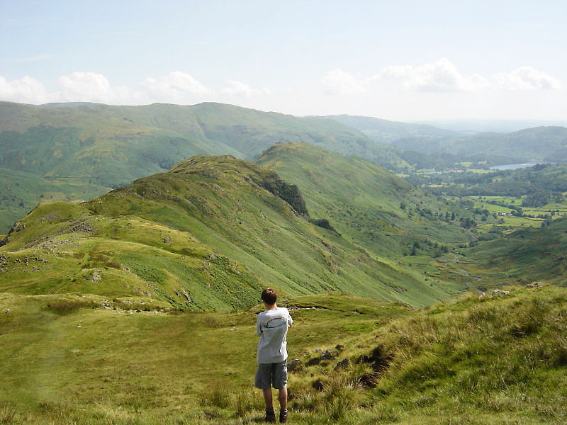 The Gibson Knott - Helm Crag ridge from Calf Crag