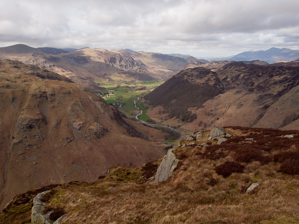 Borrowdale from the summit of Eagle Crag