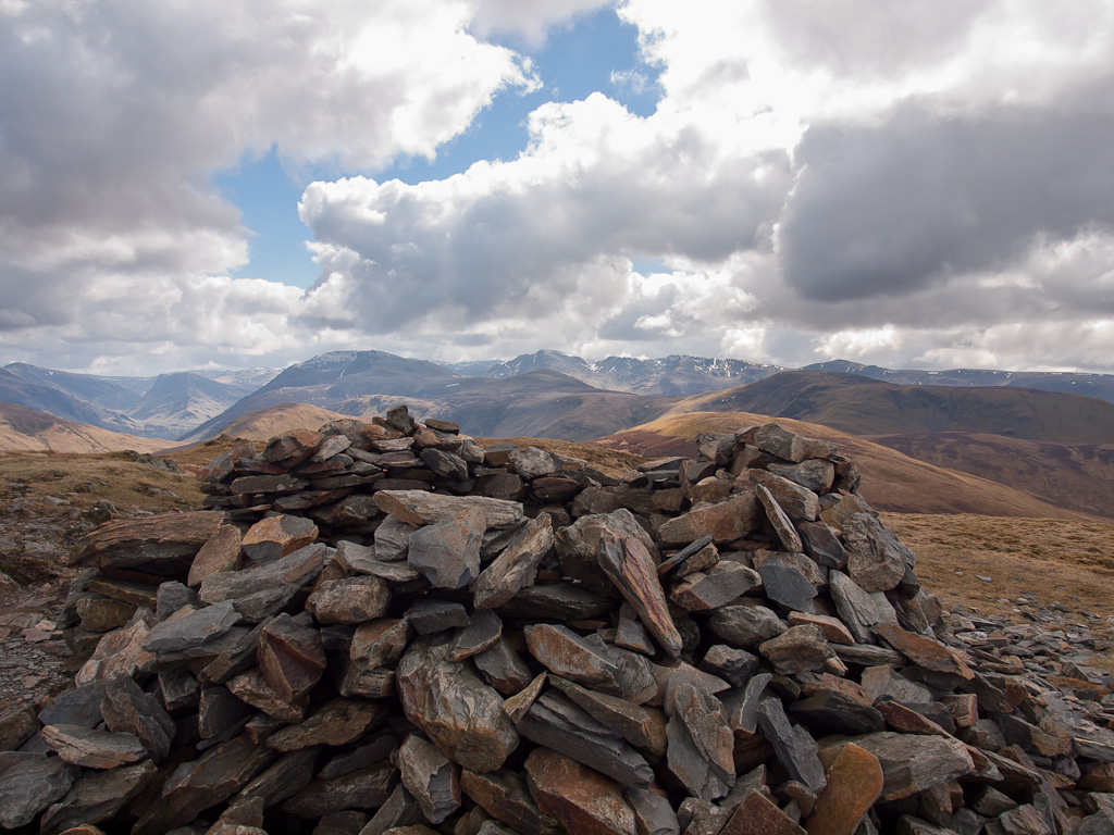 Fleetwith Pike, High Stile and Pillar, to name a few, from Blake Fell