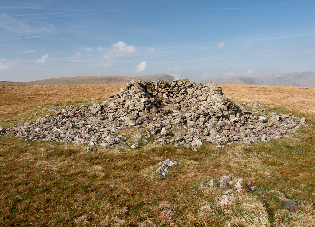 The summit cairn on Selside Pike