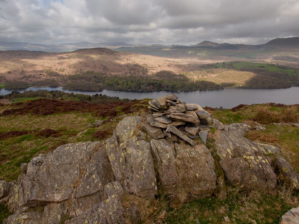 Coniston Water, Beacon Fell and Caw from High Light Haw