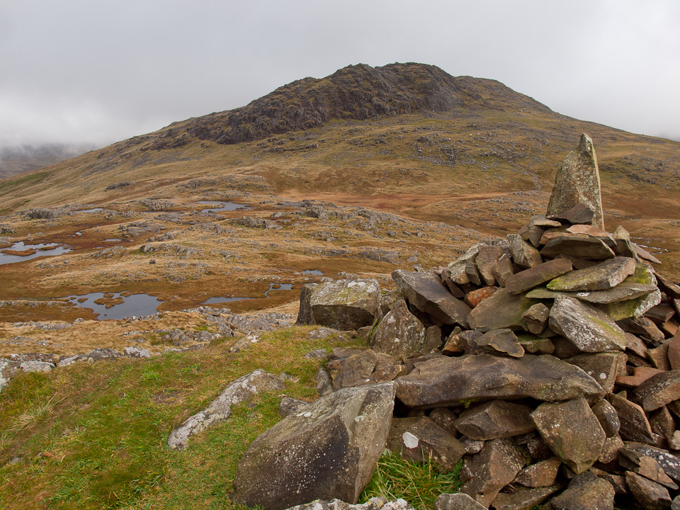 Glaramara from the cairn on Combe Head