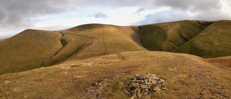 Little Sca Fell, Great Sca Fell and Knott from Meal Fell