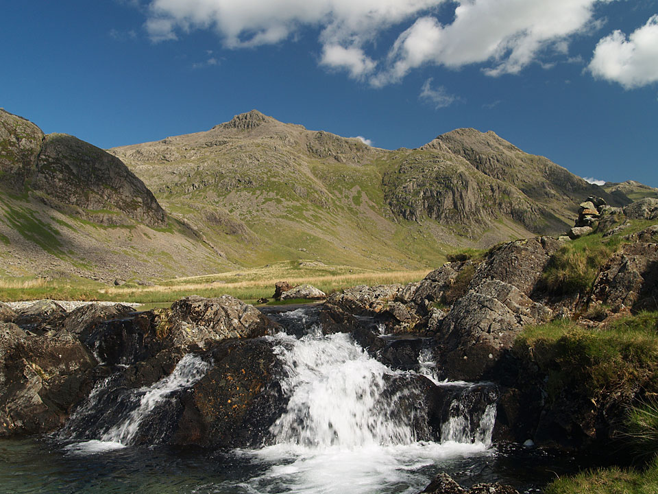 Scafell Pike and Ill Crag from Great Moss
