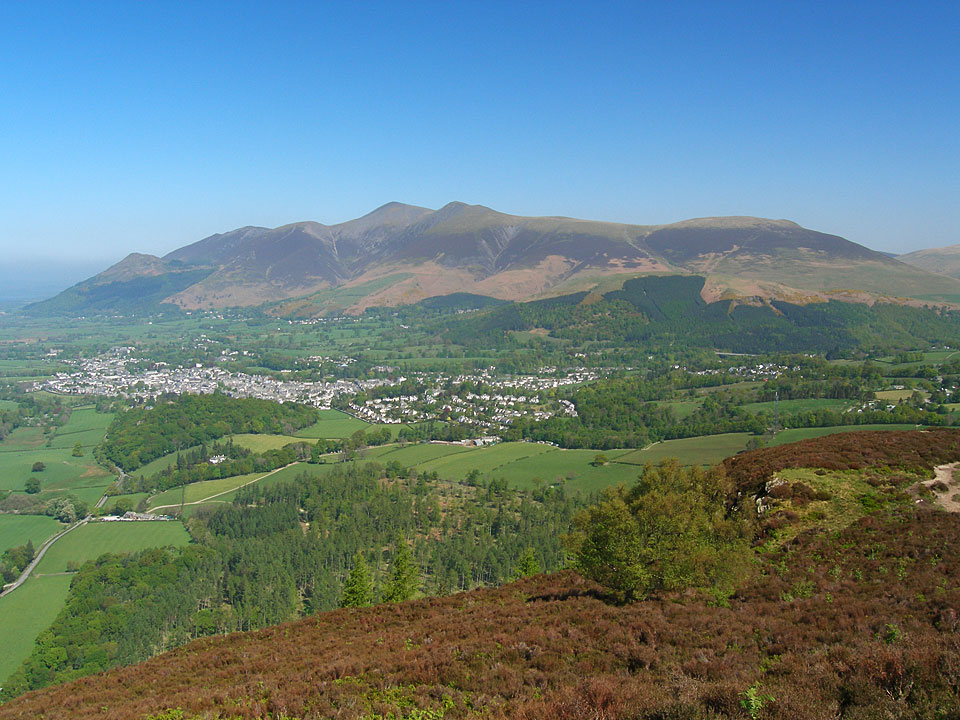 Skiddaw and Keswick from Walla Crag