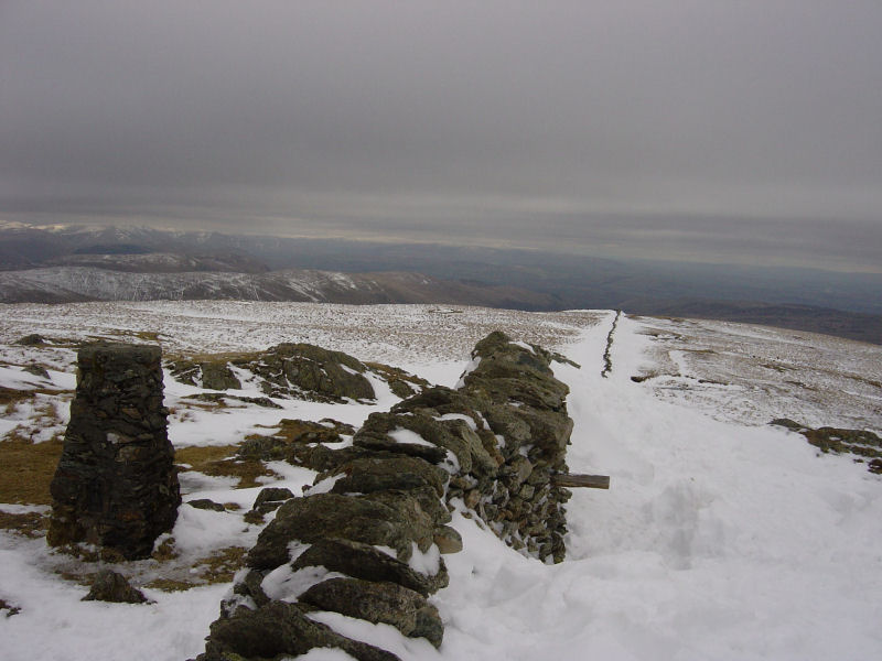 A wintry Kentmere Pike summit...