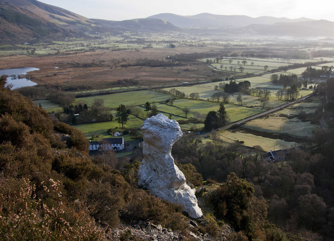 The Bishop of Barf - a whitewashed rock which can be seen for miles around