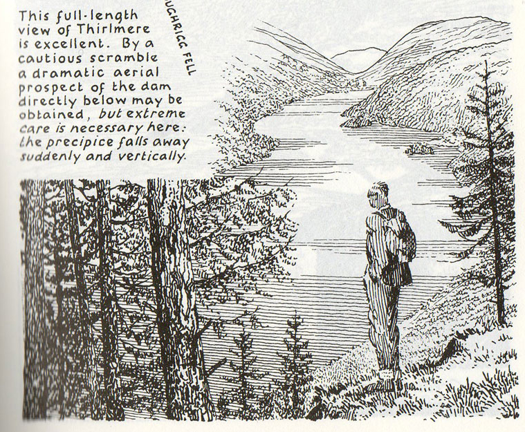 The classic view of Thirlmere as described by Wainwight