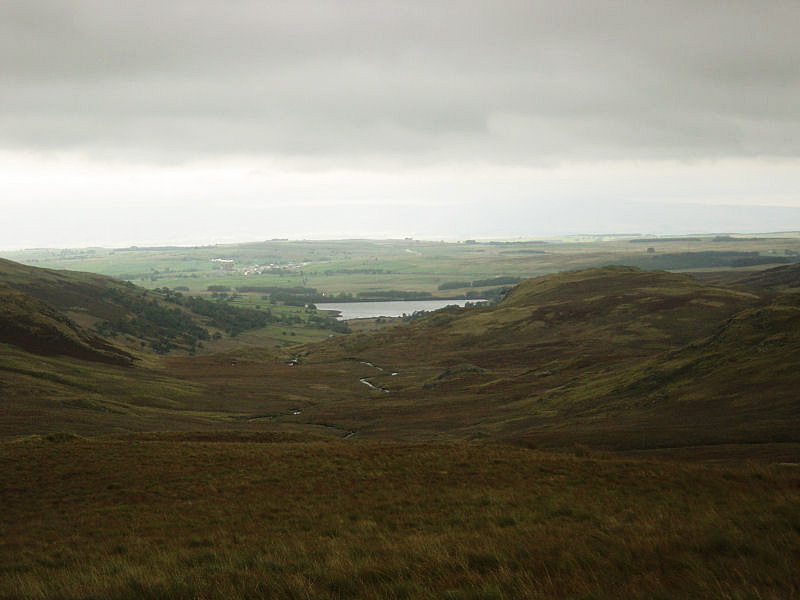 Looking along Sleddale Beck to the reservoir from Ulthwaite Rigg