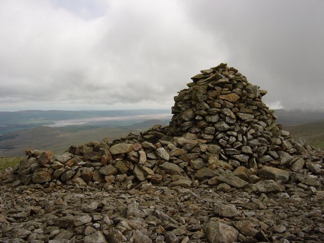 The large cairn on the summit of Whitfell, or Whit Fell, as referred to by Wainwright