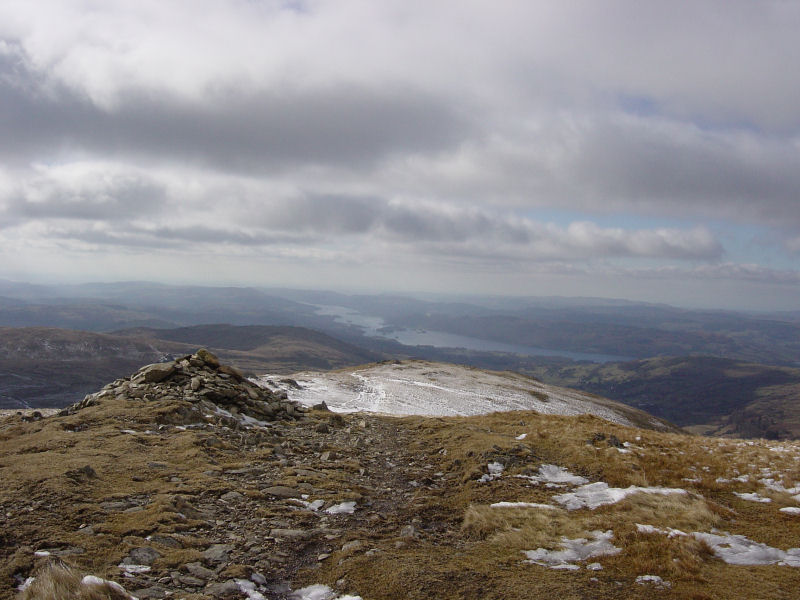 The view along Windermere from the summit of Yoke