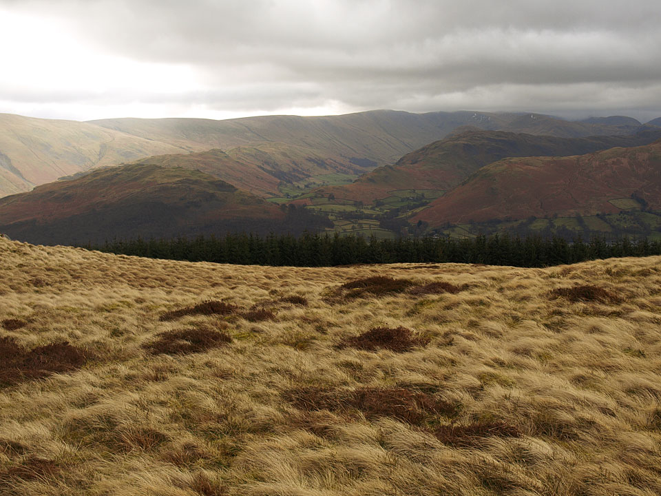 he High Street ridge and a peep into Martindale from the summit of Great Meldrum