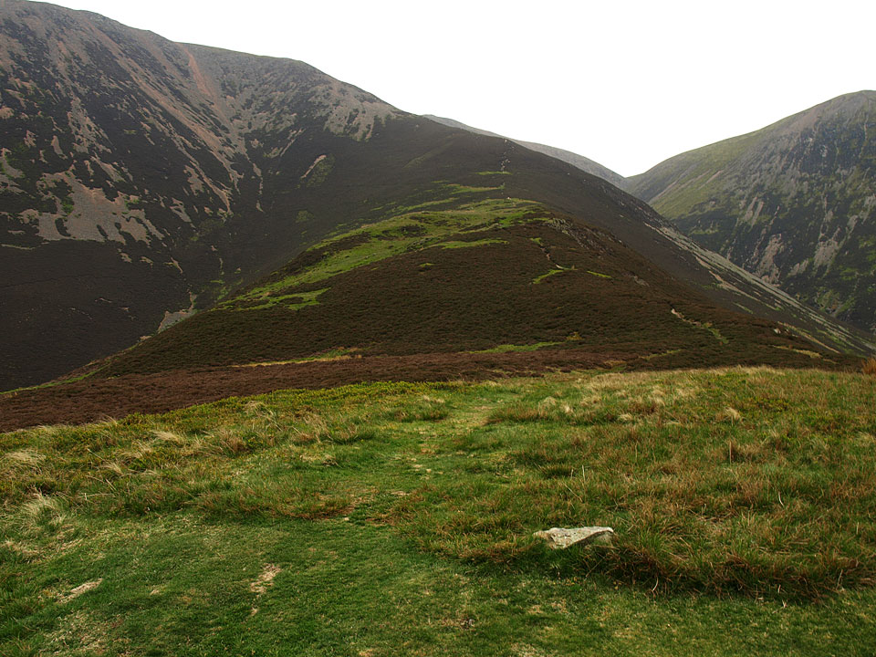 The climb to Grasmoor from Lad Hows