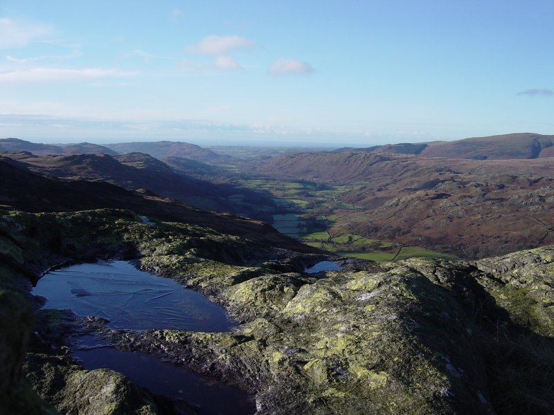 Looking along Eskdale from Horsehow Crags