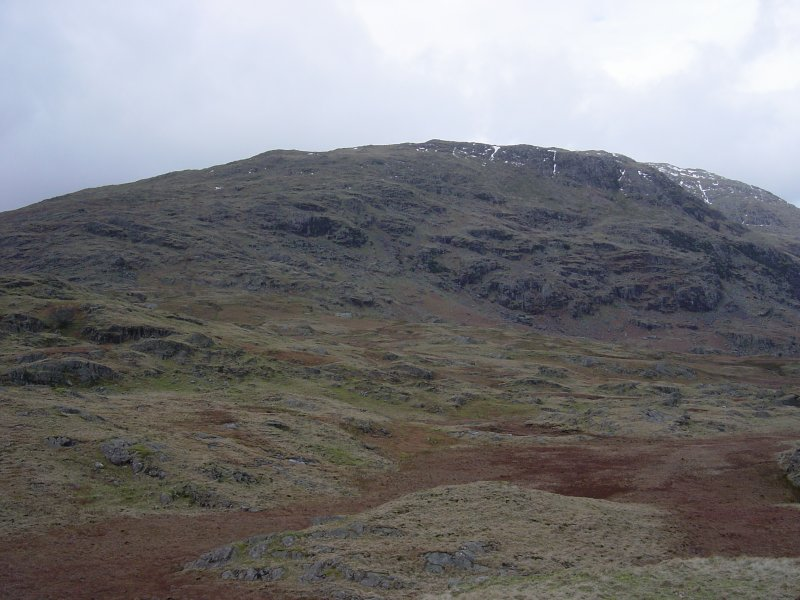 The south face of Wetherlam from Brackeny Crag