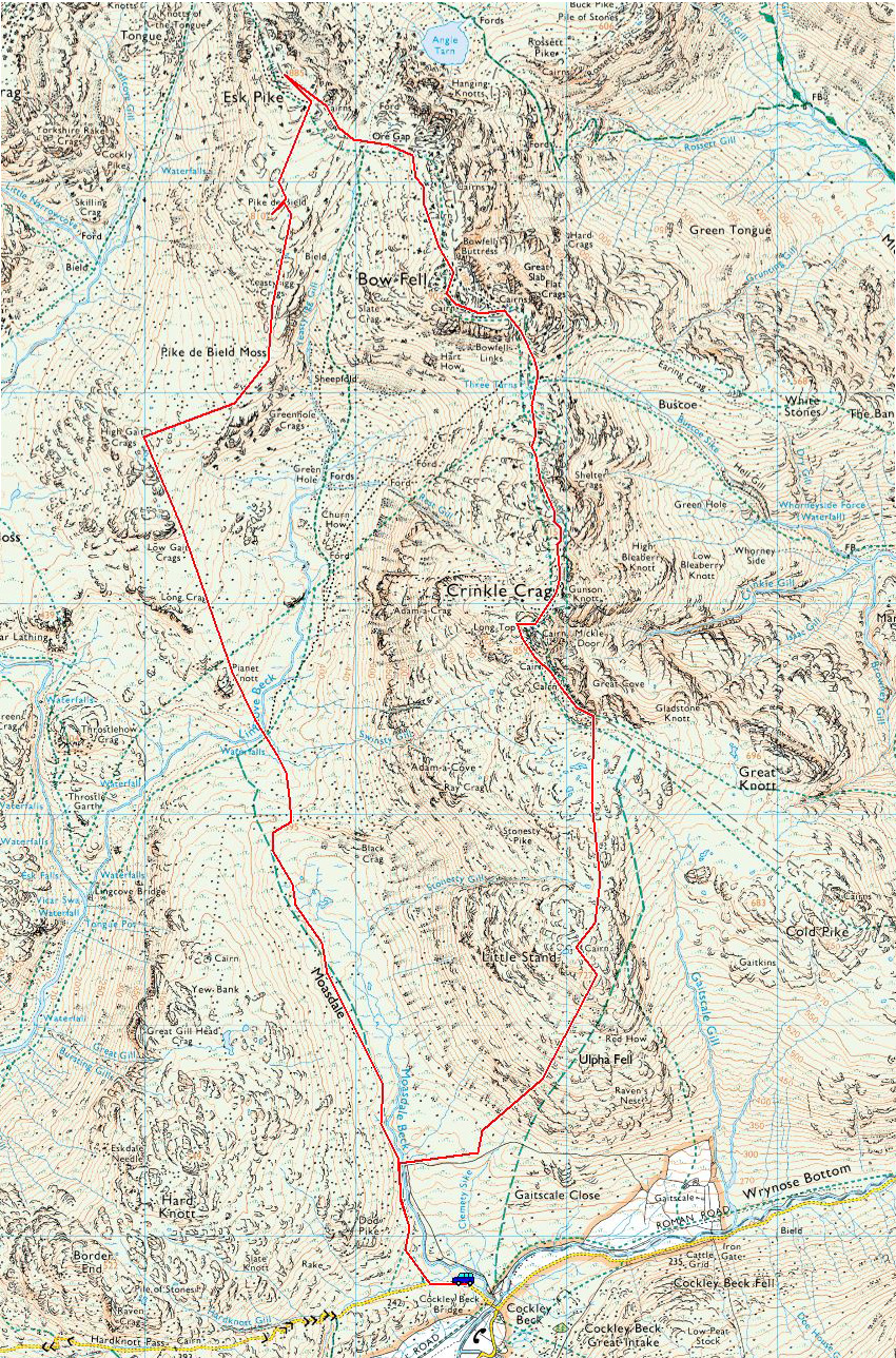 Esk Pike Map