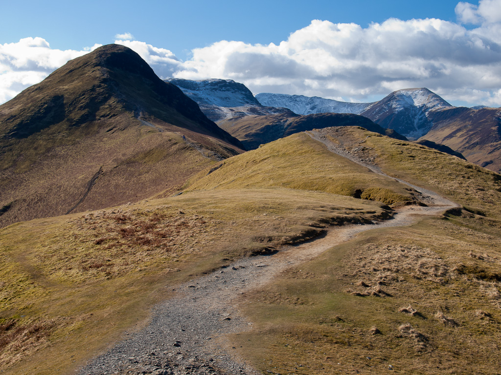 The path to Catbells from Skelgill Bank