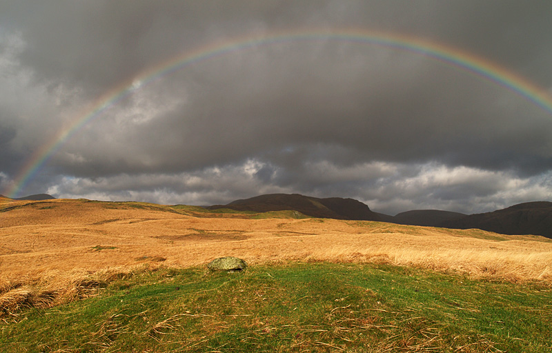 Rainbow over Cocklaw Fell