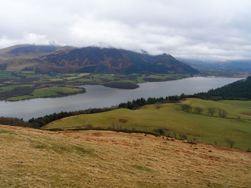 The Skiddaw massif and Bassenthwaite Lake from Lothwaite