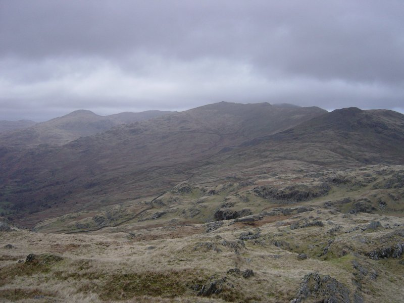 The Coniston Fells from Caw.