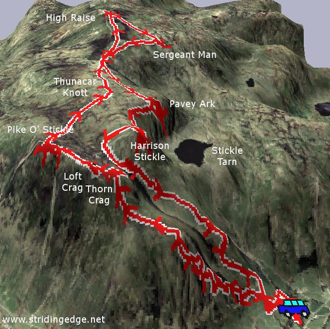 The Langdale Pikes 3D