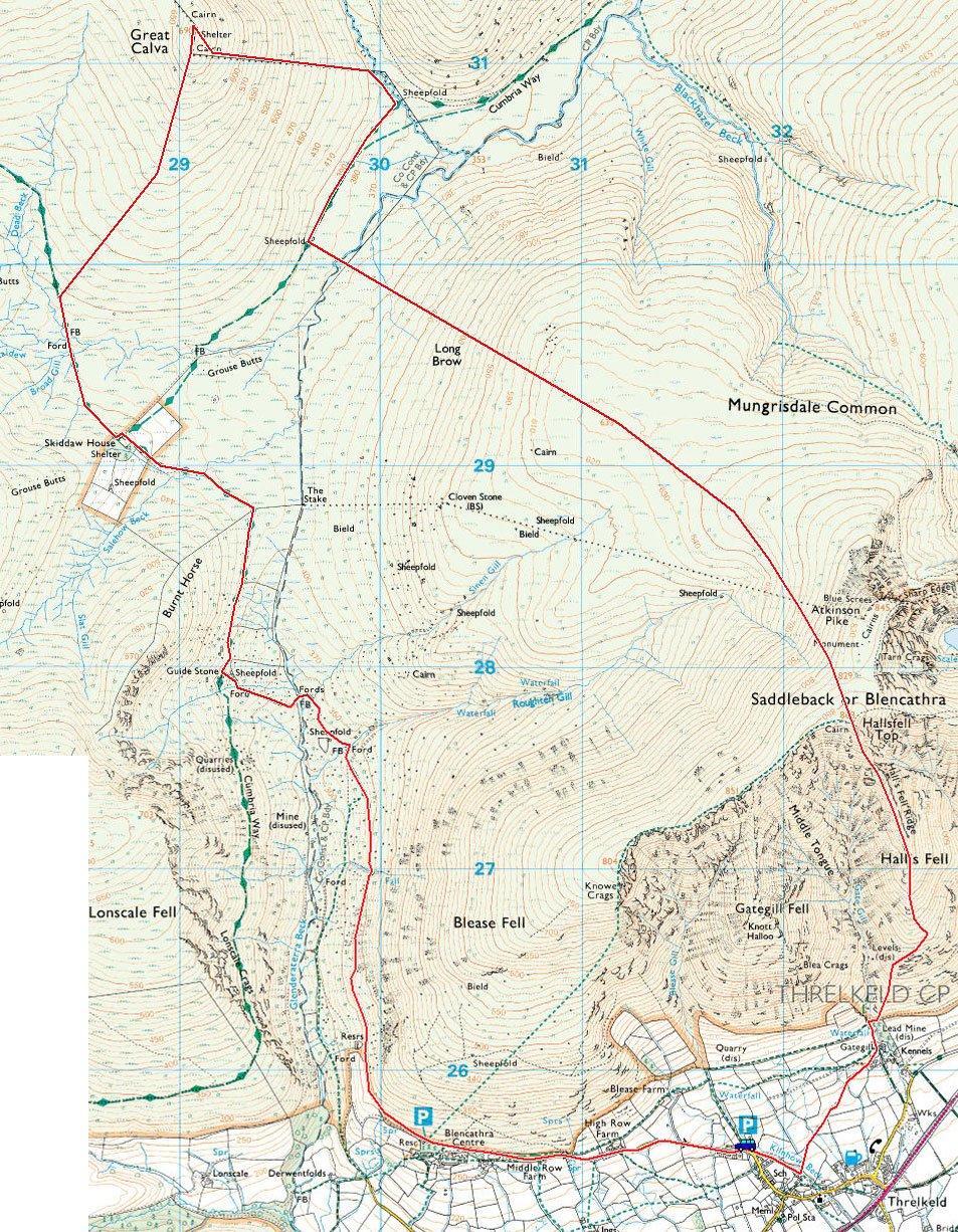Blencathra-map