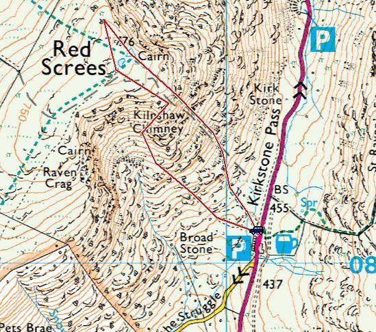 Red Screes via Kilnshaw Chimney