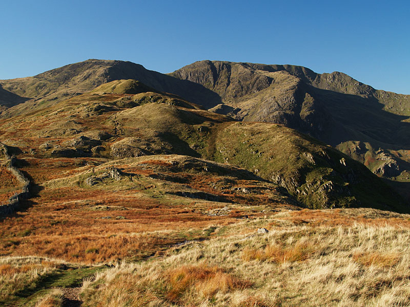 Looking along the Hartsop Above How ridge to Hart Crag and Fairfield
