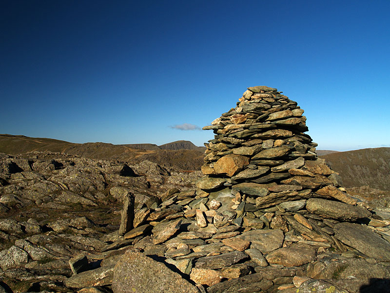 The summit of Hart Crag