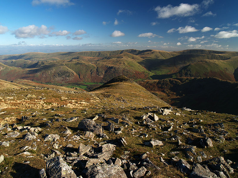 Gavel Pike and the Far Eastern fells from St. Sunday Crag