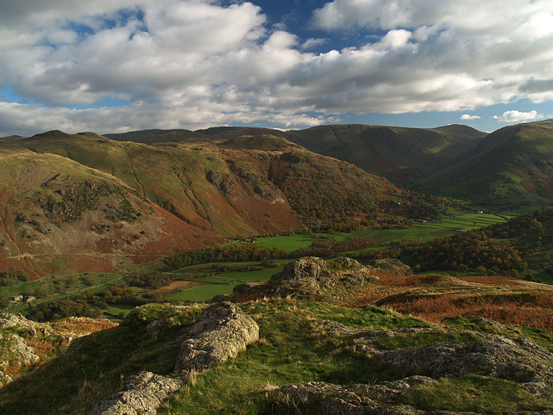 Hartsop from the summit of Arnison Crag
