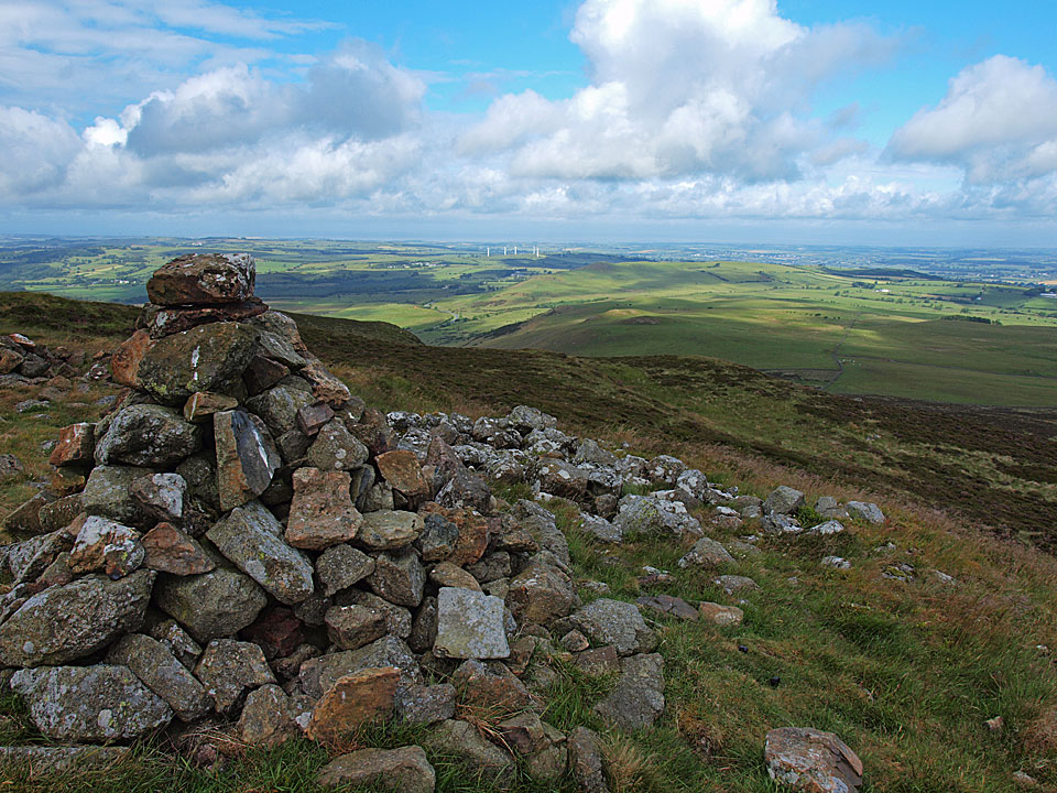 The northerly view to the Solway Firth from the north west cairn
