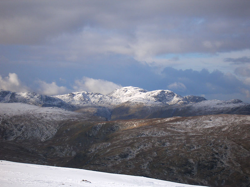 Esk Pike, Scafell Pike, Great End, Lingmell and Glaramara from Nethermost Pike