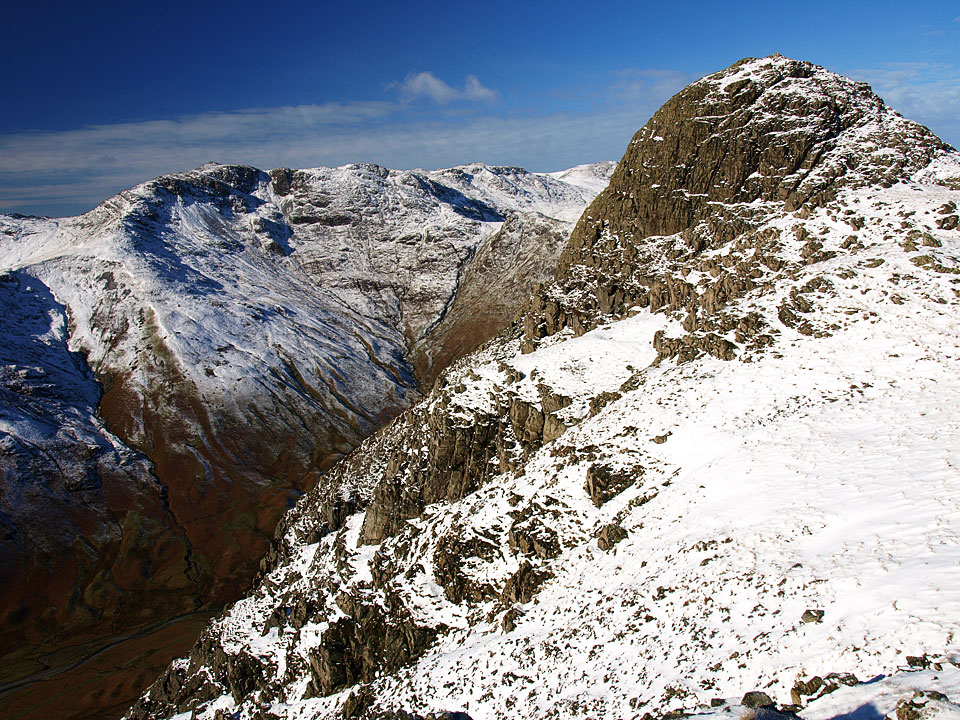 Bowfell and Pike o' Stickle from Loft Crag