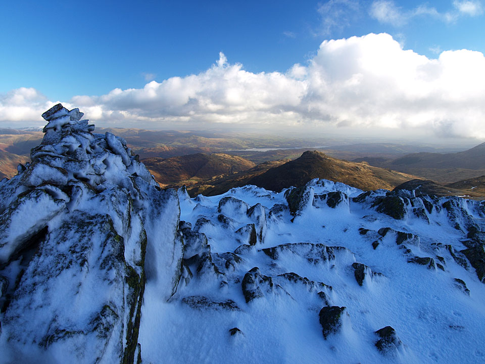Windermere and Pike o' Blisco from the Third Crinkle