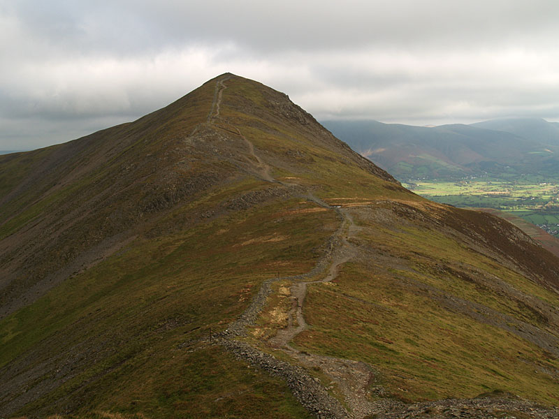 Looking back to Grisedale Pike from Hobcarton Head.