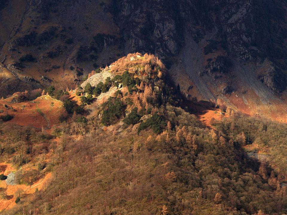Castle Crag across Borrowdale