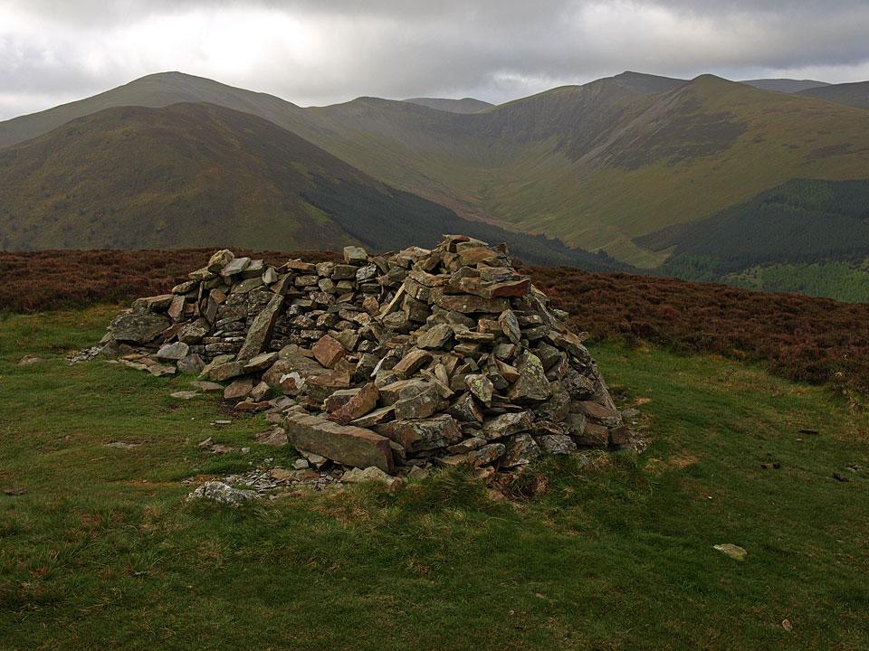 Brown How, the summit of Whinlatter, looking towards Grisedale Pike, Hopegill Head and Grasmoor