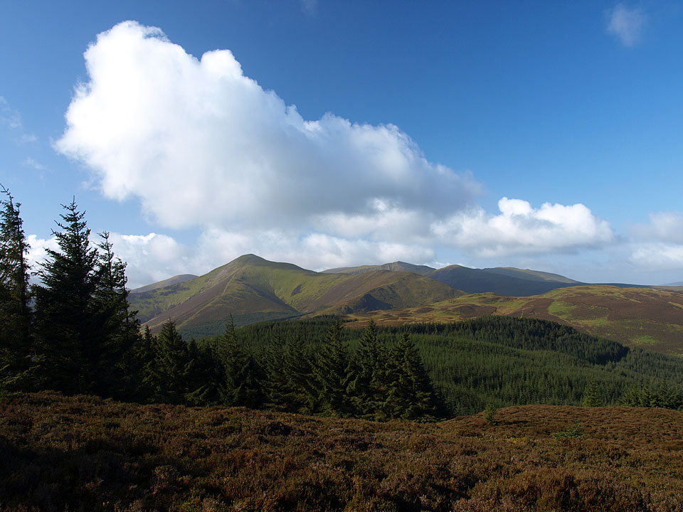 Blue sky over the north western fells from Ullister Hill
