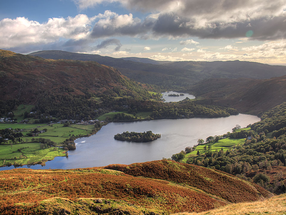 Grasmere and Rydal Water from the summit