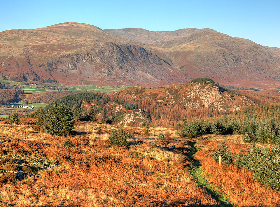 Buckbarrow, Seatallan, Red Pike and Middle Fell from Irton Pike