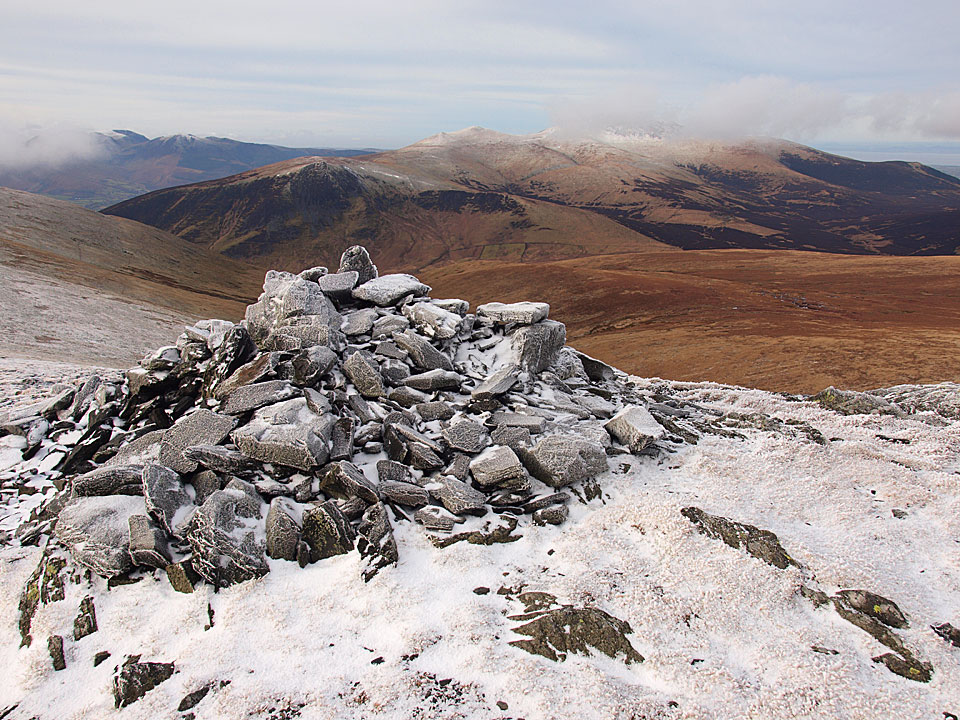 Atkinson Pike summit cairn above Foule Crag