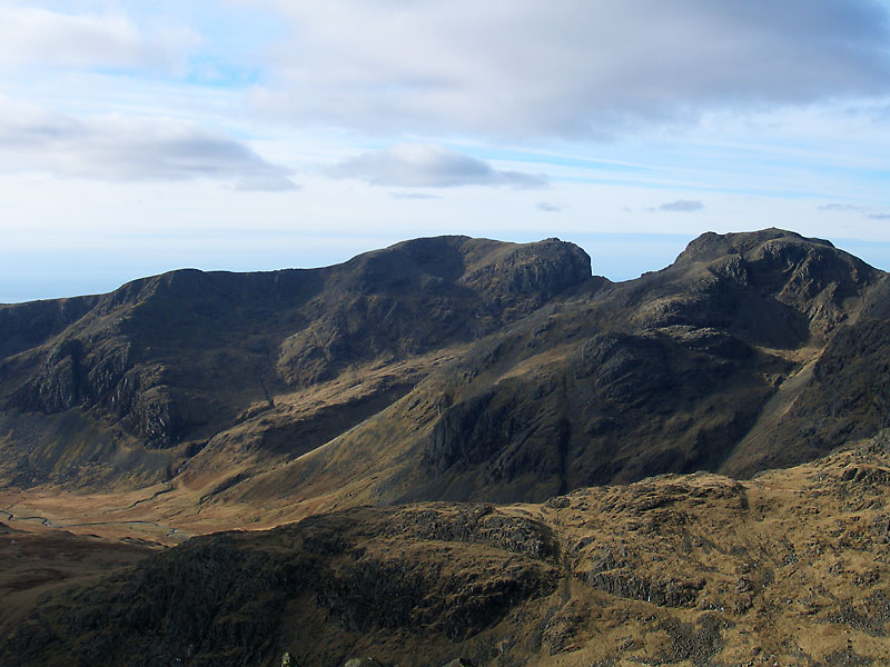 Scafell and Scafell Pike from Bow Fell
