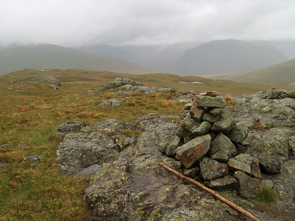 The summit of Great How on Eskdale Fell