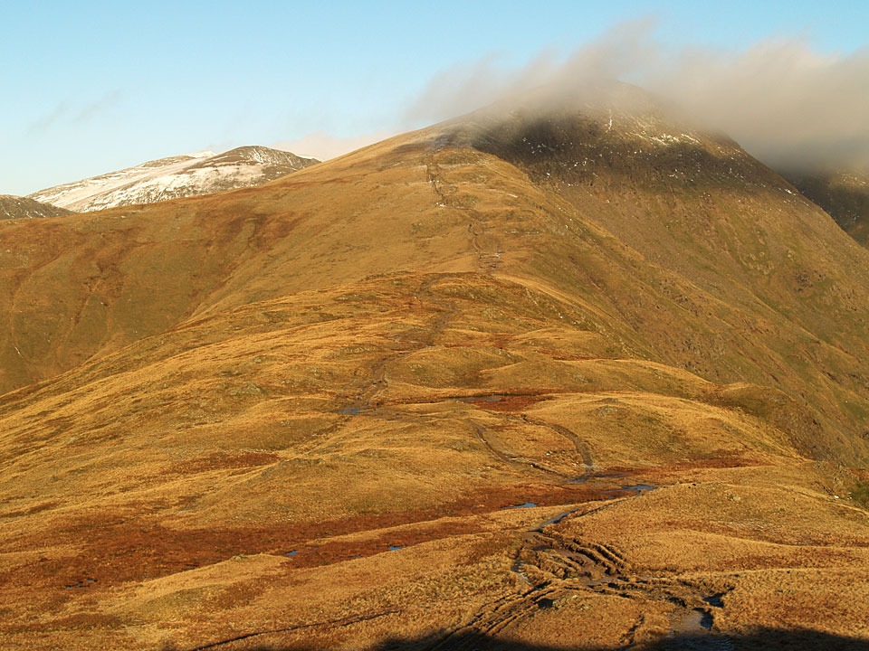 The climb to Great Rigg from Rydal Fell