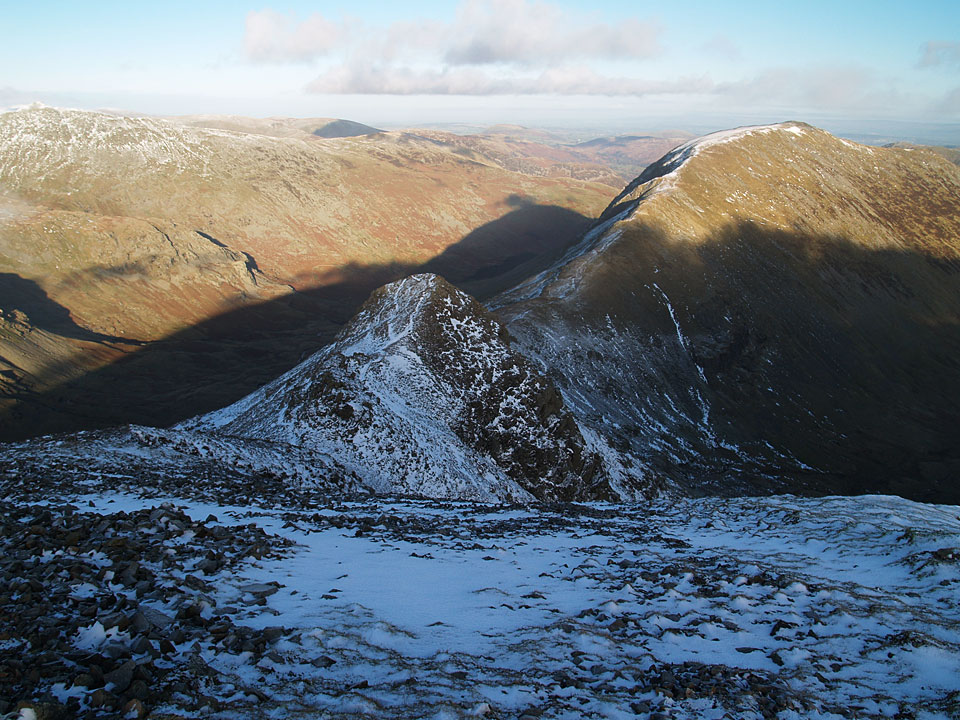 Cofa Pike to the left and Saint Sunday Crag from Fairfield