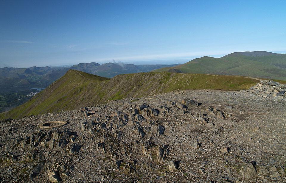 The summit of Blencathra.