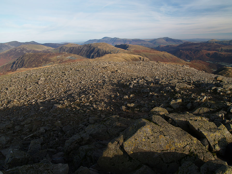 Looking north from the Great Gable summit