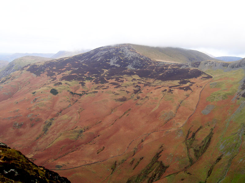 Hindscarth from Black Star, the highest point of Honister Crag